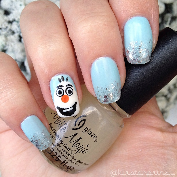Disney Frozen Nail Art Olaf Once Upon A Blog