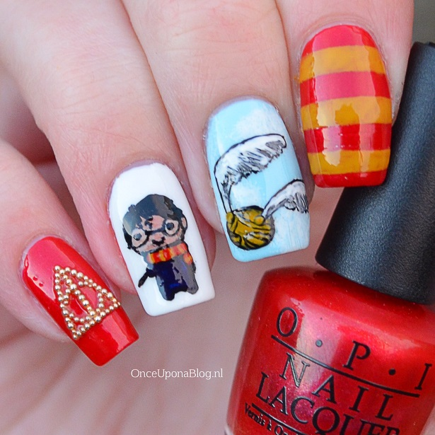 Harry Potter Nail Art Once Upon A Blog