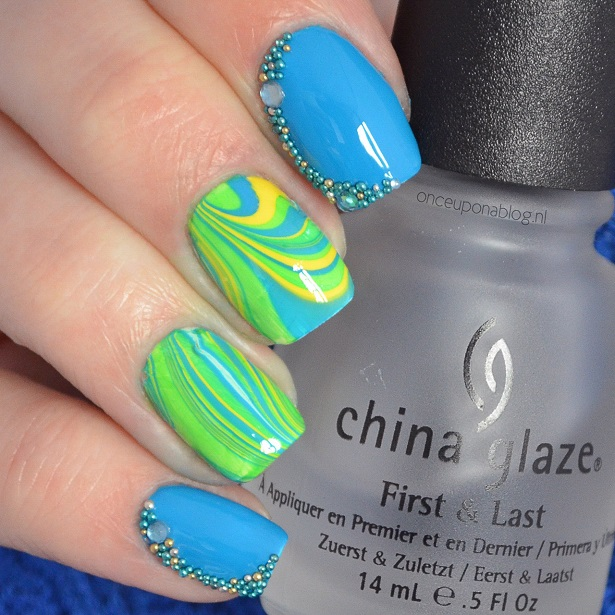 Water Marble Nail Art Once Upon A Blog
