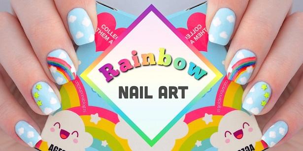 Rainbow Nail Art Once Upon A Blog