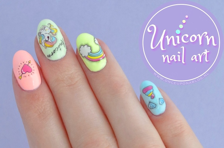 Unicorn Nail Art Once Upon A Blog