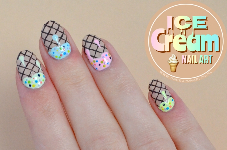 Ice Cream Nail Art Once Upon A Blog